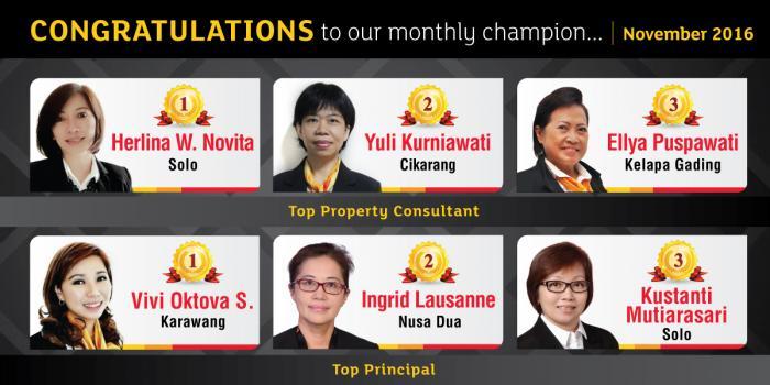 Monthly Champion November 2016