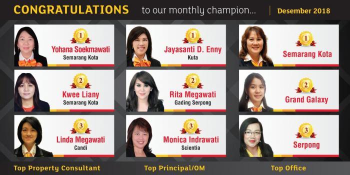 Monthly Champion Desember 2018