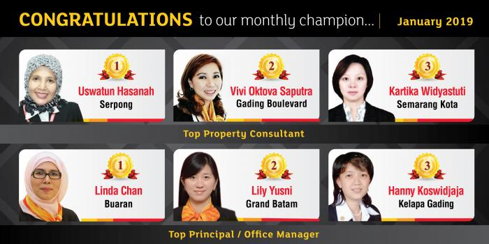 Monthly Champion Januari 2019