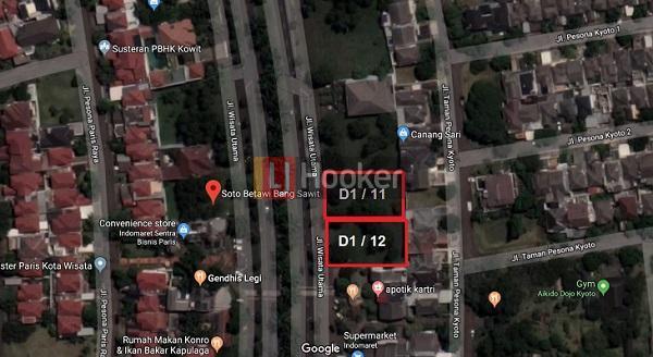 Kavling Seluas 450m2 di Kota Wisata, Cibubur Jalanan Lebar Siap Bangun