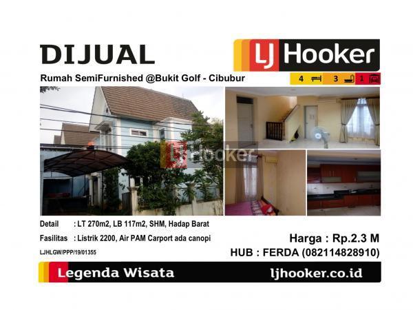 Dijual Rumah SemiFurnished @Bukit Golf - Cibubur