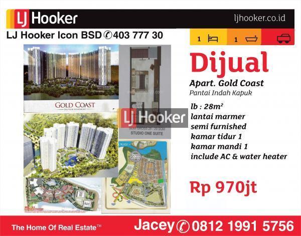Apartemen Dijual Gold Coast, PIK