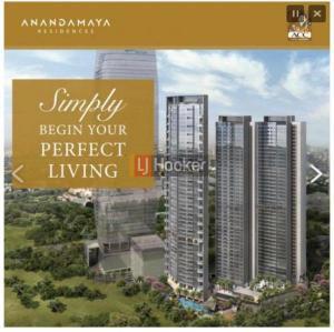 Apartemen 2 KAMAR, SEMI FURNISHED, Di Anandamaya Residence, Area Jakarta Pusat