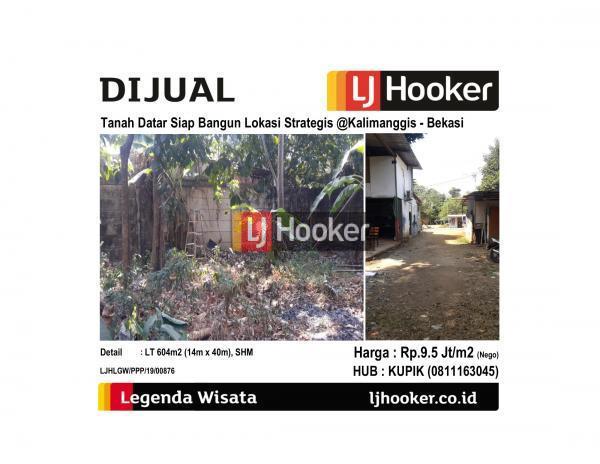 Dijual Tanah Datar Siap Bangun Lokasi Strategid @Kalimanggis - Bekasi