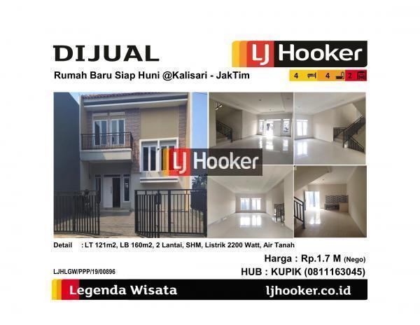 Dijual Rumah Baru 2 Lantai @Kalisari - Jakarta Timur