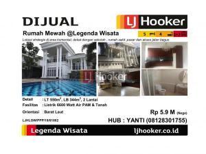 Dijual Rumah Mewah @Legenda Wisata - Cibubur
