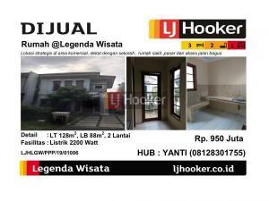 Dijual Rumah 2 Lantai @Legenda Wisata - Cibubur