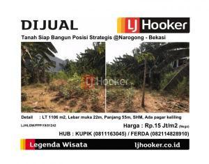 Dijual Tanah Siap bangun Posisi Strategis @Narogong - Bekasi