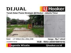 Dijual Tanah Datar Posisi Strategis @Cibubur - Jakarta Timur