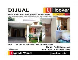 Dijual Rumah Mungil Dalam Cluster @Legenda Wisata - Cibubur