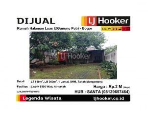 Dijual Rumah Dengan Halaman Luas @Gunung Putri - Bogor