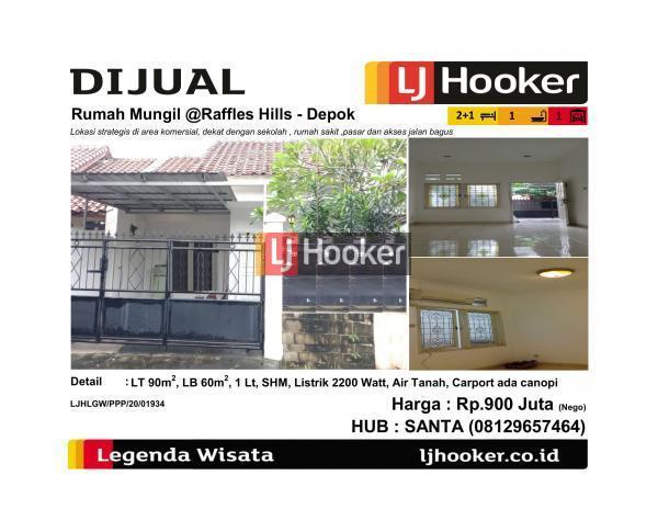 Dijual Rumah Mungil @Raffles Hills - Cibubur, Depok