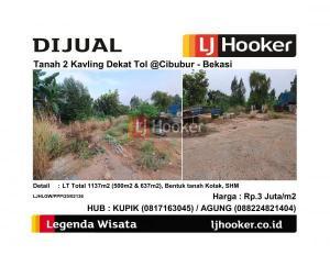 Dijual Tanah 2 Kavling Dekat Tol @Cibubur