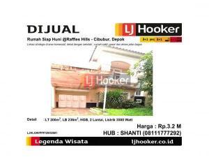 Dijual Rumah Siap Huni @Raffles Hills - Cibubur, Depok