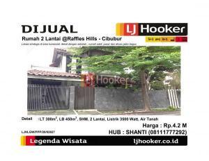 Dijual Rumah 2 Lantai @Raffles Hills - Cibubur