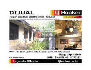 Dijual Rumah Siap Huni @Raffles Hills - Cibubur