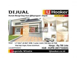 Dijual Rumah Mungil Siap Huni @Bojongsari - Depok
